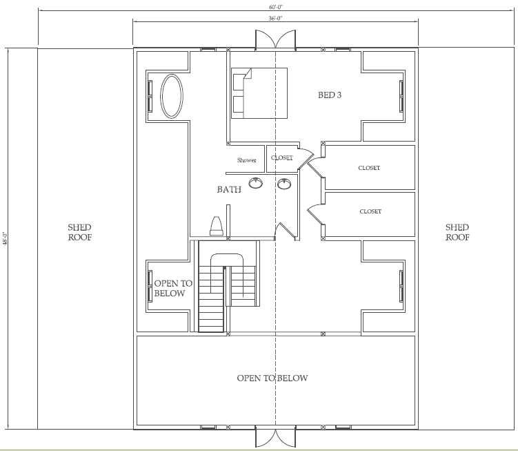 Western Classic Barn House Floor Plan