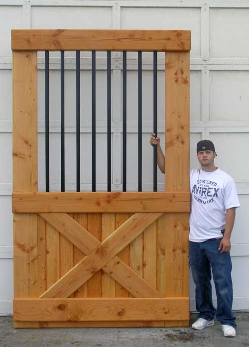 draft horse barn door