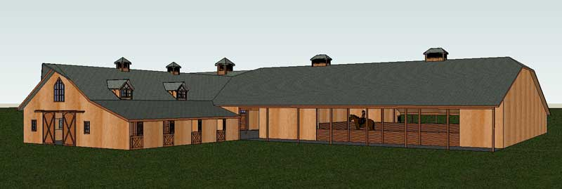 barn home, attached arena, riding arena