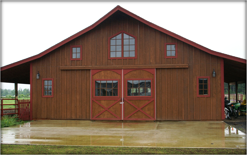 The pioneer style barn kit for Barn loft homes