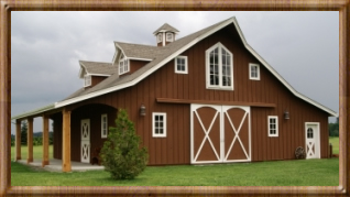 barns, barn kits, horse barns, barn homes