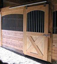 stall door, sliding stall door, stall front, stall grill